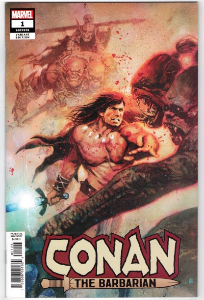 Conan the Barbarian #1 1:200 Bill Sienkiewicz Variant Marvel 2018 NM-