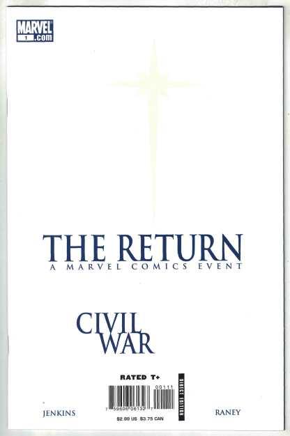 Civil War The Return #1 1st Print Cover A Marvel 2007 Jenkins Raney VF/NM