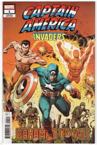 Captain America and Invaders Bahamas Triangle #1 1:25 Zircher Variant 2019 VF/NM