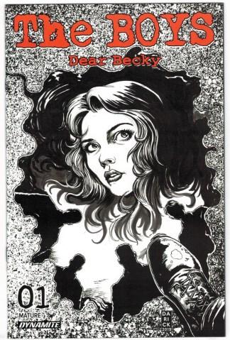 Boys Dear Becky #1 1:15 Darick Robertson Black White Bonus Variant 2020 VF/NM