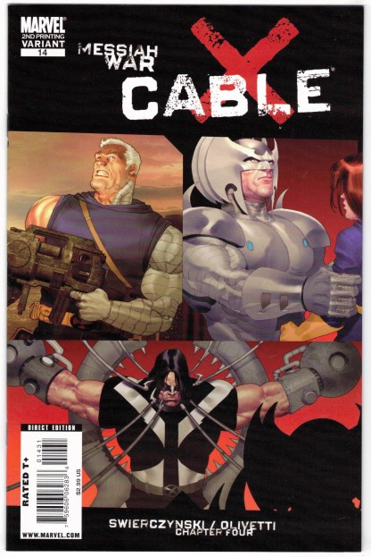 Cable #14 2nd Print Ariel Olivetti Variant Marvel 2008 X-Men Messiah War VF/NM