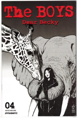 Boys Dear Becky #4 Darick Robertson Line Art Variant Dynamite 2020 VF/NM