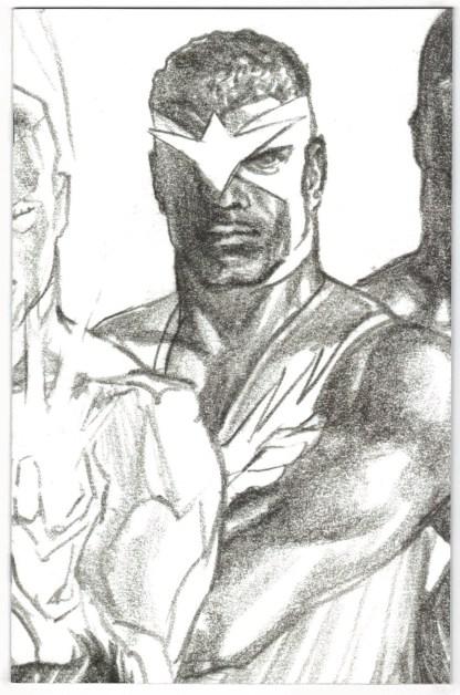 Captain America #24 1:100 Alex Ross Timeless Virgin Sketch Variant Falcon VF/NM