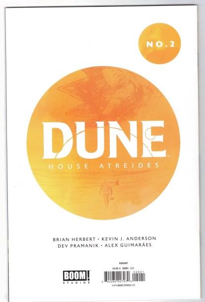 Dune House Atreides #2 1:50 JG Jones Virgin Variant Boom! Studios 2020 VF/NM
