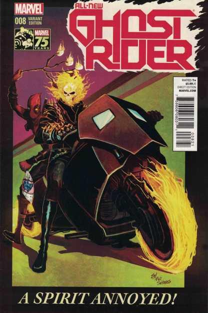 All-New Ghost Rider #8 1:25 Del Mundo Deadpool Variant HTF Rare!
