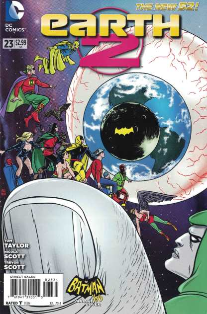 Earth 2 #23 1:25 Mike Allred Batman 66 Variant DC New 52