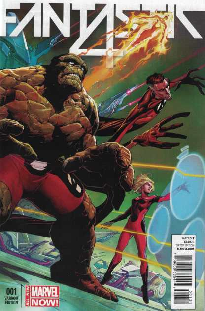 Fantastic Four #1 1:50 Jerome Opena Variant Marvel ANMN 2014