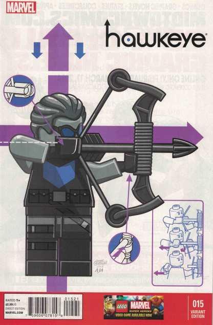Hawkeye #15 1:25 Leonel Castellani Lego Color Variant Marvel