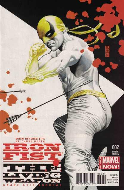 Iron Fist Living Weapon #2 1:25 J G Jones Variant Marvel 2014 ANMN