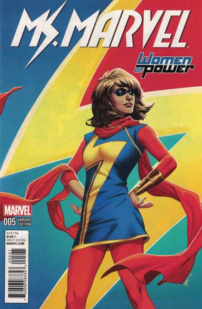 Ms Marvel #5 Lupacchino Women of Power Variant WOP Marvel 2015 ANAD
