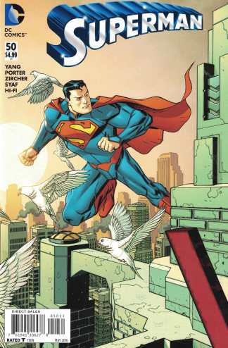 Superman #50 1:100 Dave Johnson Connecting Variant DC New 52 2011