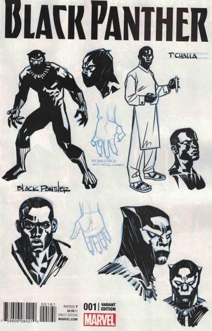 Black Panther #1 1:20 Stelfreeze Design Variant Marvel ANAD 2016