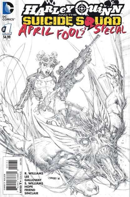 Harley Quinn Suicide Squad April Fools Special #1 1:50 Jim Lee Sketch Variant