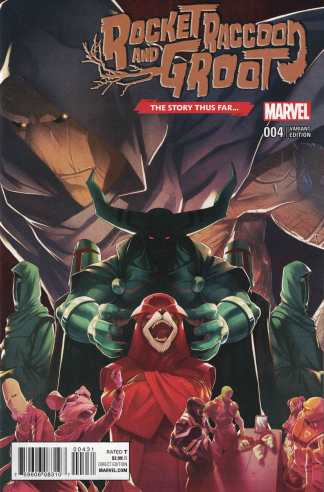 Rocket Raccoon and Groot #4 1:10 Story Thus Far Variant Marvel ANAD 2016