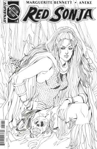 Red Sonja #4 1:10 Sauvage Black and White Sketch B&W Variant Vol 3 2016