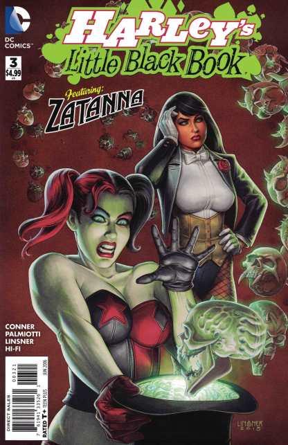 Harley's Little Black Book #3 1:25 Linsner Variant DC Comics Quinn Zatanna HTF