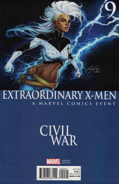Extraordinary X-Men #9 Siya Oum Civil War Variant Marvel ANAD Storm 2015