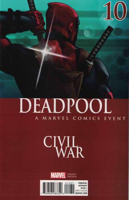 Deadpool #10 Andrasofszky Civil War Variant Marvel ANAD 2015
