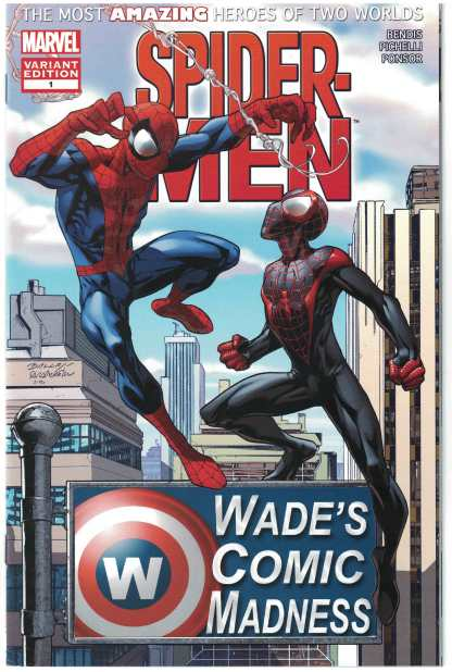 Spider-Men #1 Wade's Comic Madness Exclusive Variant VF Very Fine Marvel
