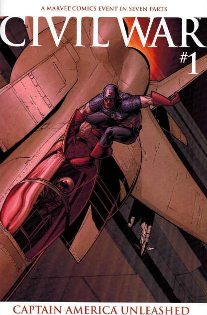Civil War #1 Captain America Unleashed 2nd Printing Variant Marvel 2006 HTF Rare