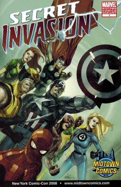 Secret Invasion #1 Lenil Francis Yu Midtown Comics Exclusive Variant Marvel