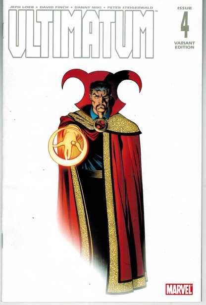 Ultimatum #4 1:25 Ed McGuinness Doctor Strange Color Variant VF