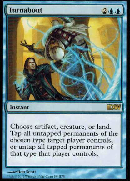 Turnabout IDW Promo Card Magic the Gathering MTG (Comes with FREE Comic)