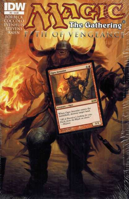 Magic the Gathering Path of Vengeance #3 with Ogre Arsonist IDW Promo Card