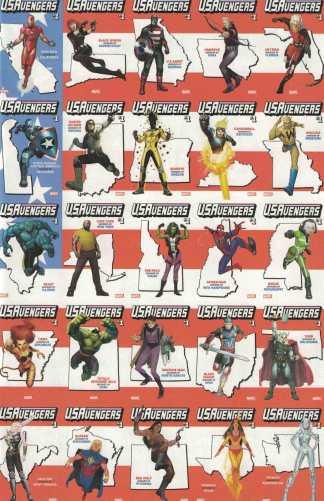 US Avengers #1 Retailer Bonus Flag Wraparound Variant One Per Store Marvel 2017