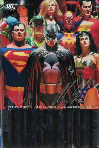 Justice Vol 1 Dynamic Forces HC Signed by Alex Ross and Jim Krueger DC w/COA