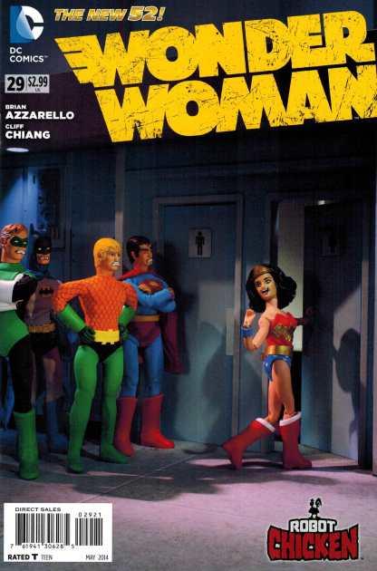 Wonder Woman #29 1:25 Robot Chicken Variant DC New 52!