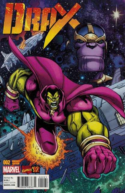 Drax #2 1:20 Ron Lim Marvel 92 Variant ANAD 2015 Guardians