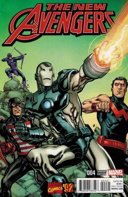 New Avengers #4 1:20 Raney Marvel 92 Variant ANAD 2015 West Coast