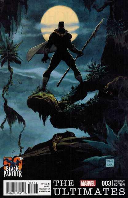 Ultimates #3 1:25 Tim Sale Black Panther 50th Anniversary Variant Marvel ANAD 2015