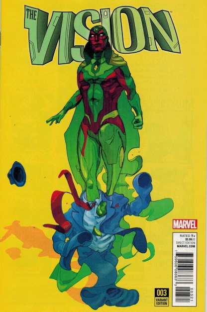 Vision #3 1:25 Christian Ward Variant Marvel ANAD 2015