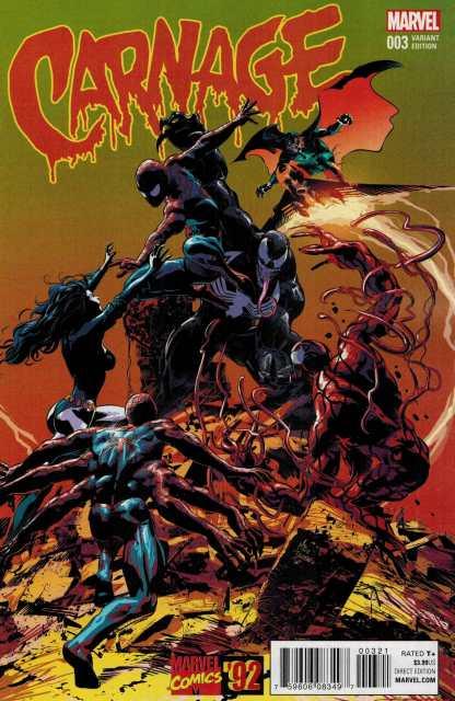 Carnage #3 1:20 Deodato Marvel 92 Variant ANAD 2015 Venom