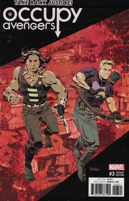 Occupy Avengers #3 1:25 Panosian Variant NOW Marvel 2015 Hawkeye Red Wolf