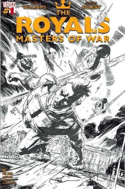 Royals Masters of War #1 Comicspro Sketch Variant DC Vertigo 2014
