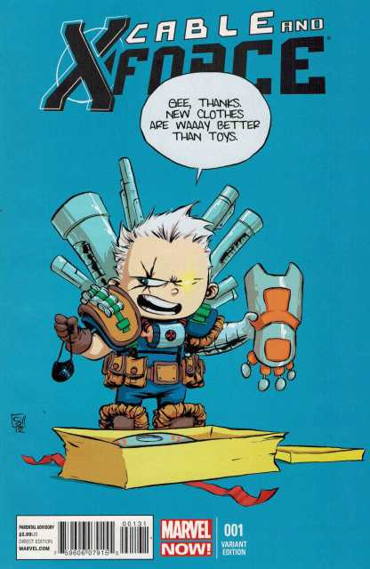 Cable and X-Force #1 Skottie Young Baby Variant