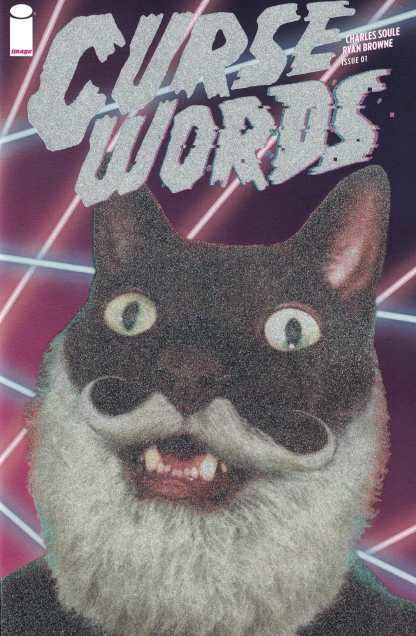Curse Words #1 1:50 Glitter Wizard Cat Incentive Variant Cover D Image 2017