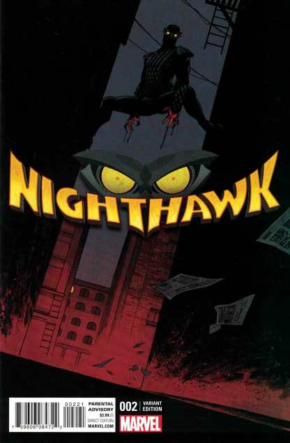 Nighthawk #2 1:25 Declan Shalvey Variant Marvel ANAD 2016
