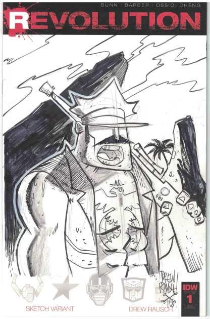 Revolution #1 1:100 Drew Rausch Hand Sketch Gi Joe Gung Ho Variant IDW RI J 2016