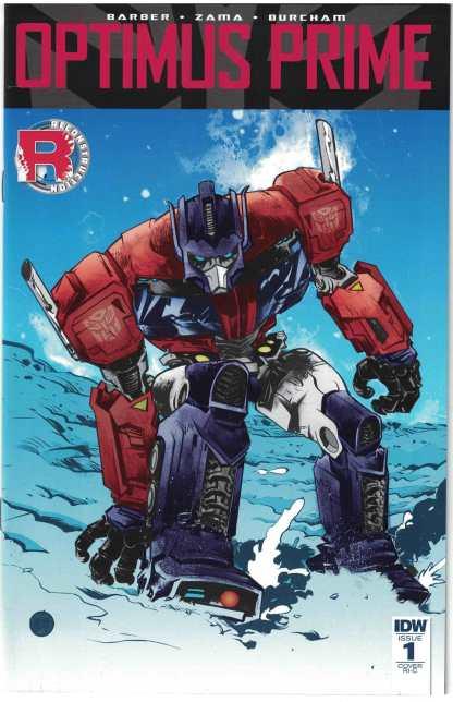 Optimus Prime #1 1:50 Paul Pope Variant Cover RI-C IDW 2016 Transformers VF/NM