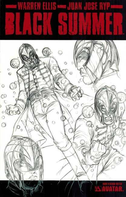 Black Summer #0 Sketch Variant Warren Ellis Avatar
