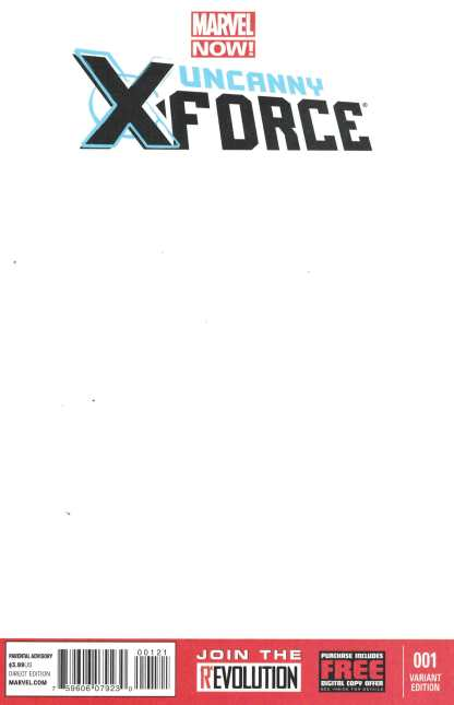 Uncanny X-Force #1 Blank Sketch Variant Marvel Now 2013 Sam Humphries Cable