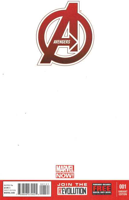 Avengers #1 NOW Blank Sketch Variant Hickman 2012