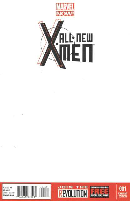 All New X-Men #1 Blank Variant Cover Sketch Marvel Now