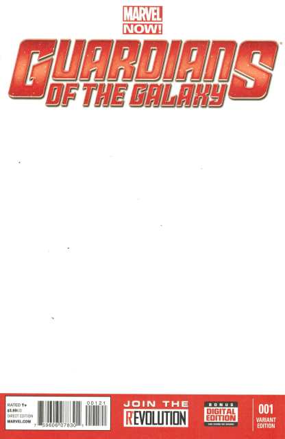 Guardians of the Galaxy #1 Blank Sketch Variant NOW