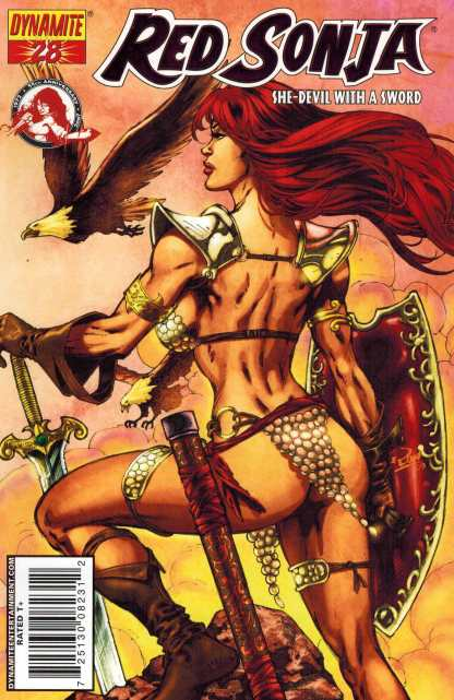 Red Sonja #28 Fiery Red Foil Variant HTF With COA