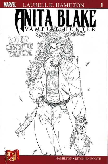 Anita Blake Guilty Pleasures #1 Variant Convention Exclusive Sketch Cover NYCC
